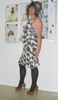 robe Lola Liza marron blanche 15