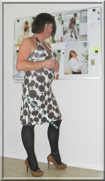 robe Lola Liza marron blanche