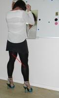 jupe grise et noir esprit chemise blanche 6