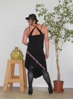 robe noir a decolete bretelles croise dos 29