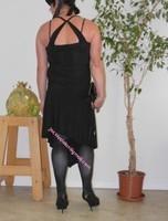 robe noir a decolete bretelles croise dos 24
