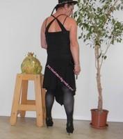 robe noir a decolete bretelles croise dos 25