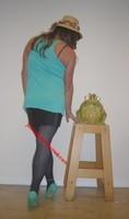 jupe noir vynil top vert Jacq 24