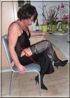 longue robe a fente chaine 48