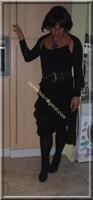 robe noir froufrou 6