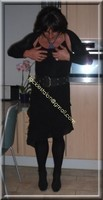 robe noir froufrou 16