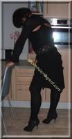 robe noir froufrou 18