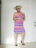 robe de plage ligne plusieurs couleurs 2
