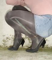 minijupe jeans blouse rose 3