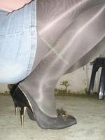 minijupe jeans blouse rose 8
