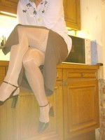 chaussures mauve ouvertes bas blanc longue jupe marron 15 [800x600]