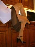 chaussures mauve ouvertes bas blanc longue jupe marron 39 [800x600]