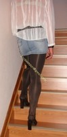 minijupe jeans collants marron fonce 6