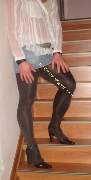 minijupe jeans collants marron fonce 5