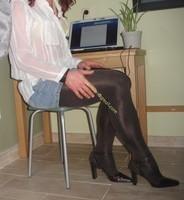 minijupe jeans collants marron fonce 3