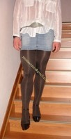 minijupe jeans collants marron fonce 7