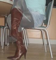 minijupe jeans chemise bleu 3