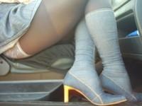 bottes jeans jupette bleu jeans1