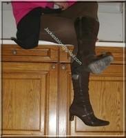 jupe noir pull rose 1