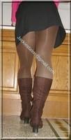 jupe noir pull rose 4