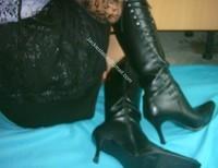minijupe noir tirette avec bas 20