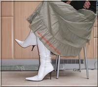 longue jupe beige velours 10