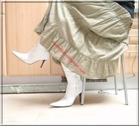 longue jupe beige velours 9