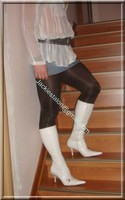minijupe jeans chemise blanche 5