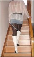 minijupe jeans chemise blanche 12