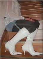 minijupe jeans chemise blanche 8