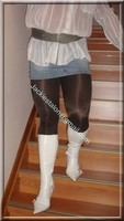 minijupe jeans chemise blanche 10