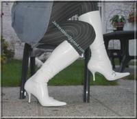minijupe jeans pull blanc 3