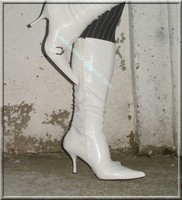 minijupe jeans pull blanc 8