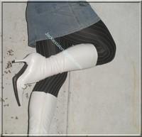 minijupe jeans pull blanc 7