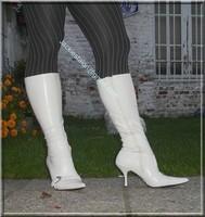 minijupe jeans pull blanc 5