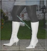 minijupe jeans pull blanc 6