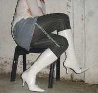 minijupe jeans pull blanc 13