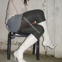 minijupe jeans pull blanc 10