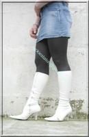 minijupe jeans pull blanc 15