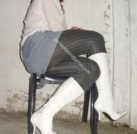 minijupe jeans pull blanc 11