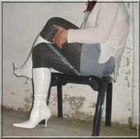 minijupe jeans pull blanc 12