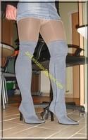 minijupe jeans guepiere noir 9
