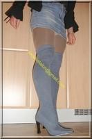 minijupe jeans guepiere noir 11