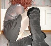 minijupe noir blouse grise 9