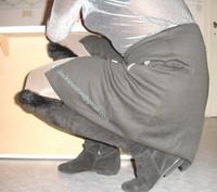 minijupe noir blouse grise 11