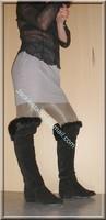 cuissardes avec fourure jupe a careau 3
