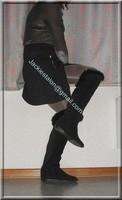 minijupe noir blouse grise 7