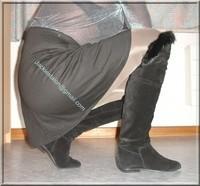minijupe noir blouse grise 8