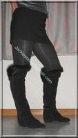 minijupe noir blouse grise 13