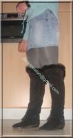 minijupe jeans chemise bleu